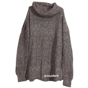 Hollister Gray Cold Shoulder Sweater xs